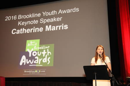 2016 Keynote Speaker and 2012 Youth of the Year, Catherine Marris