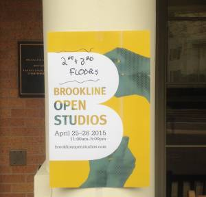 Poster outside of the Brookline Senior Center