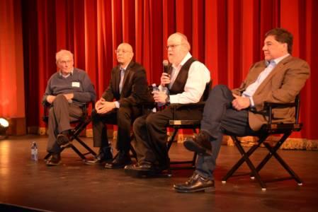 Left To Right, Holocaust Testimony Expert Lawrence Langer, Facing History & Ourselves Adam Strom, Former Brookline Human Relations Director Steven Bressler, R. Harvey Bravman