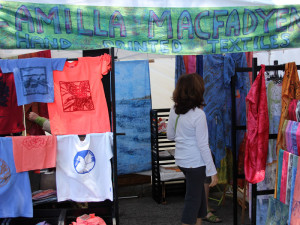 Camilla Macfadyn's booth at the 2011 Coolidge Corner Arts Festival