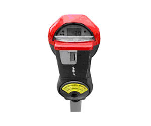 Single head meters with extended hours can be identified by their red tops