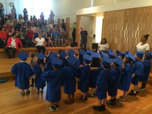 Pre-K graduation ceremony for Little Children Schoolhouse in Brookline